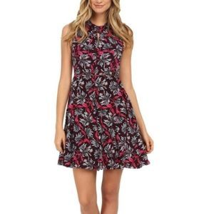 Rebecca Taylor Mystic Garden Twist Keyhole Dress